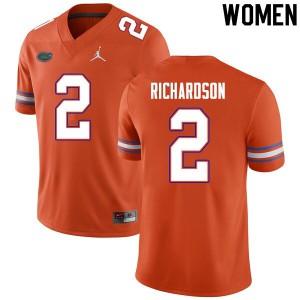 Women #2 Anthony Richardson Florida Gators College Football Jerseys Orange 920669-185