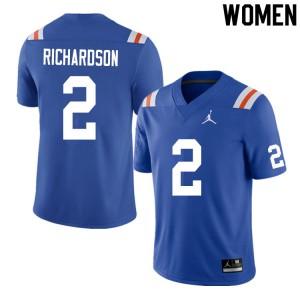 Women #2 Anthony Richardson Florida Gators College Football Jerseys Throwback 395392-523