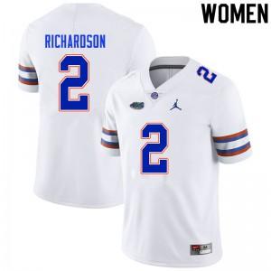 Women #2 Anthony Richardson Florida Gators College Football Jerseys White 728727-321