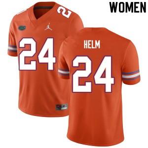 Women #24 Avery Helm Florida Gators College Football Jerseys Orange 218744-287