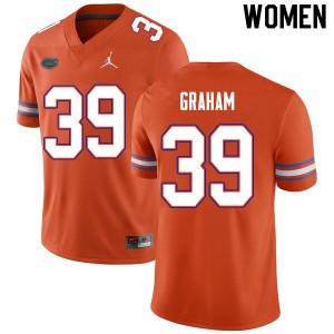Women #39 Fenley Graham Florida Gators College Football Jerseys Orange 958371-422