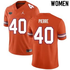 Women #40 Jesiah Pierre Florida Gators College Football Jerseys Orange 392223-719