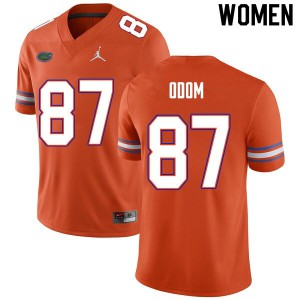 Women #87 Jonathan Odom Florida Gators College Football Jerseys Orange 507914-334