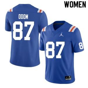 Women #87 Jonathan Odom Florida Gators College Football Jerseys Throwback 753917-568