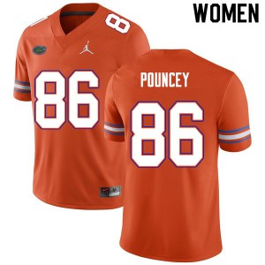 Women #86 Jordan Pouncey Florida Gators College Football Jerseys Orange 336593-462