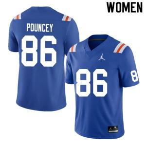 Women #86 Jordan Pouncey Florida Gators College Football Jerseys Throwback 589998-460