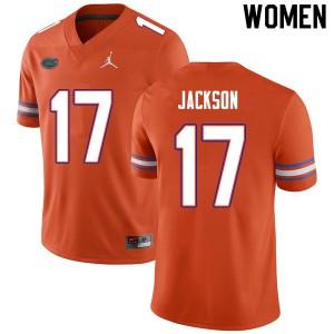 Women #17 Kahleil Jackson Florida Gators College Football Jerseys Orange 419355-337