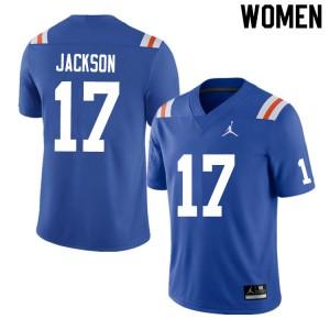Women #17 Kahleil Jackson Florida Gators College Football Jerseys Throwback 148189-860