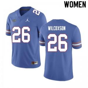 Women #26 Kamar Wilcoxson Florida Gators College Football Jerseys Blue 810913-623