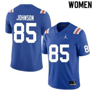 Women #85 Kevin Johnson Florida Gators College Football Jerseys Throwback 573093-237