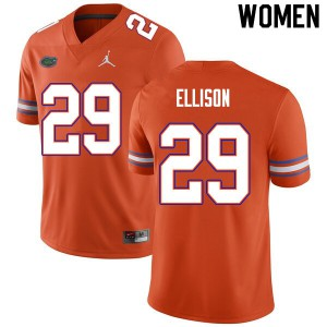Women #29 Khamal Ellison Florida Gators College Football Jerseys Orange 646853-740