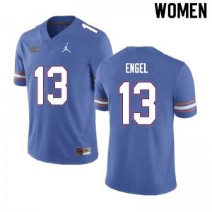 Women #13 Kyle Engel Florida Gators College Football Jerseys Blue 255528-622
