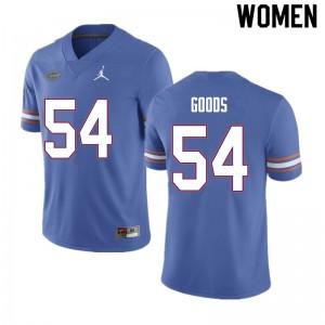 Women #54 Lamar Goods Florida Gators College Football Jerseys Blue 753437-839