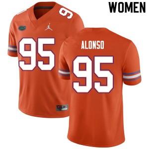 Women #95 Lucas Alonso Florida Gators College Football Jerseys Orange 783950-189