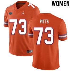 Women #73 Mark Pitts Florida Gators College Football Jerseys Orange 638482-924