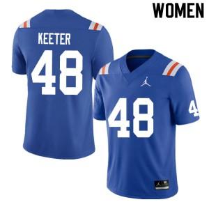 Women #48 Noah Keeter Florida Gators College Football Jerseys Throwback 678457-315