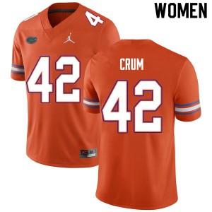 Women #42 Quaylin Crum Florida Gators College Football Jerseys Orange 921945-950