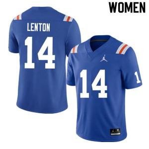 Women #14 Quincy Lenton Florida Gators College Football Jerseys Throwback 668185-528
