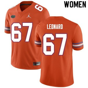 Women #67 Richie Leonard Florida Gators College Football Jerseys Orange 575902-933