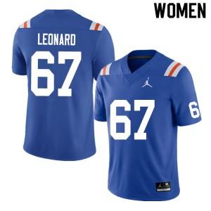 Women #67 Richie Leonard Florida Gators College Football Jerseys Throwback 599295-829