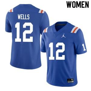 Women #12 Rick Wells Florida Gators College Football Jerseys Throwback 130579-455
