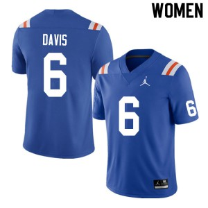 Women #6 Shawn Davis Florida Gators College Football Jerseys Throwback 386909-216