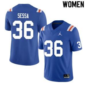 Women #36 Zack Sessa Florida Gators College Football Jerseys Throwback 269661-200