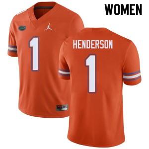Jordan Brand Women #1 CJ Henderson Florida Gators College Football Jerseys Orange 370753-555