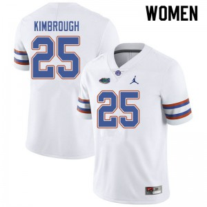 Jordan Brand Women #25 Chester Kimbrough Florida Gators College Football Jerseys White 508980-769