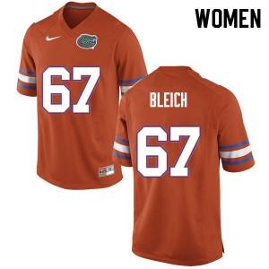 Women #67 Christopher Bleich Florida Gators College Football Jerseys Orange 276025-281