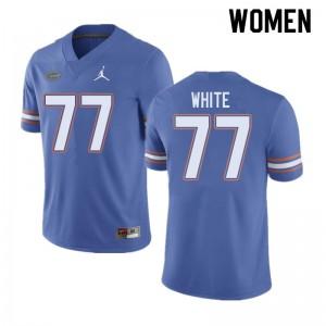 Jordan Brand Women #77 Ethan White Florida Gators College Football Jerseys Blue 166235-928