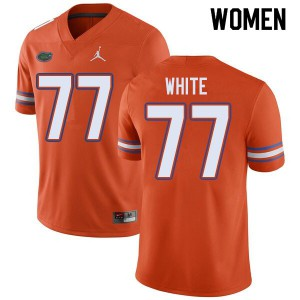 Jordan Brand Women #77 Ethan White Florida Gators College Football Jerseys Orange 290424-217