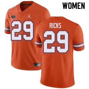 Jordan Brand Women #29 Isaac Ricks Florida Gators College Football Jerseys Orange 690157-927