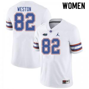 Jordan Brand Women #82 Ja'Markis Weston Florida Gators College Football Jerseys White 272677-485