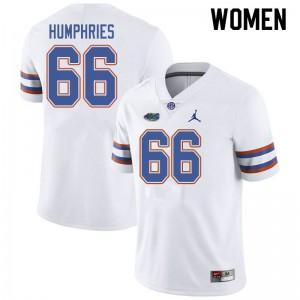 Jordan Brand Women #66 Jaelin Humphries Florida Gators College Football Jerseys White 426196-810