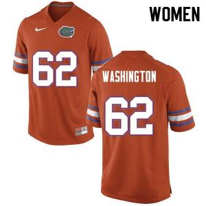 Women #62 James Washington Florida Gators College Football Jerseys Orange 725965-893
