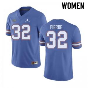 Jordan Brand Women #32 Jesiah Pierre Florida Gators College Football Jerseys Blue 918115-791
