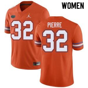 Jordan Brand Women #32 Jesiah Pierre Florida Gators College Football Jerseys Orange 864387-749