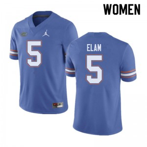 Jordan Brand Women #5 Kaiir Elam Florida Gators College Football Jerseys Blue 194187-758