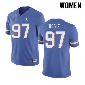 Jordan Brand Women #97 Khris Bogle Florida Gators College Football Jerseys Blue 917129-306