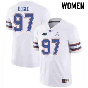 Jordan Brand Women #97 Khris Bogle Florida Gators College Football Jerseys White 452009-772