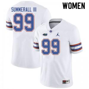 Jordan Brand Women #99 Lloyd Summerall III Florida Gators College Football Jerseys White 976422-374