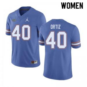 Jordan Brand Women #40 Marco Ortiz Florida Gators College Football Jerseys Blue 542465-424