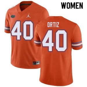 Jordan Brand Women #40 Marco Ortiz Florida Gators College Football Jerseys Orange 535082-555