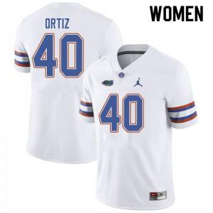 Jordan Brand Women #40 Marco Ortiz Florida Gators College Football Jerseys White 206120-318