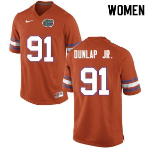 Women #91 Marlon Dunlap Jr. Florida Gators College Football Jerseys Orange 270776-304