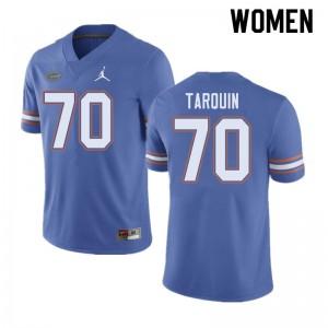 Jordan Brand Women #70 Michael Tarquin Florida Gators College Football Jerseys Blue 412858-764