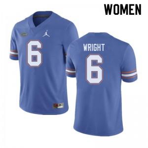 Jordan Brand Women #6 Nay'Quan Wright Florida Gators College Football Jerseys Blue 374120-660
