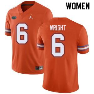 Jordan Brand Women #6 Nay'Quan Wright Florida Gators College Football Jerseys Orange 676361-619
