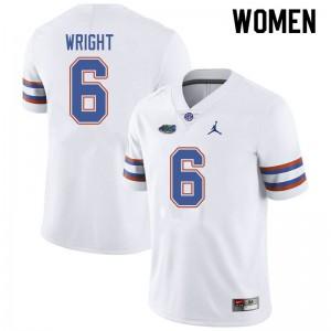 Jordan Brand Women #6 Nay'Quan Wright Florida Gators College Football Jerseys White 525118-801